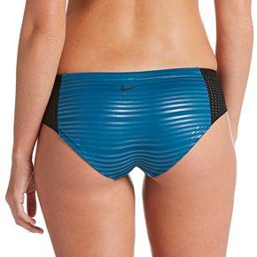 Women's Nike 6:1 Shine Striped Hipster Bikini Bottoms
