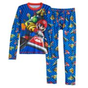 Boys 4-16 Cuddl Duds Super Mario Kart 2-Piece Baselayer Set