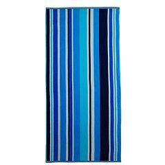 The One Blue Stripe Beach Towel