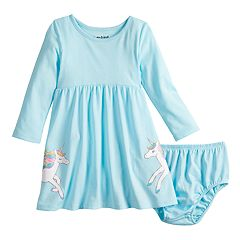 Baby Girl Jumping Beans® Unicorn Skater Dress