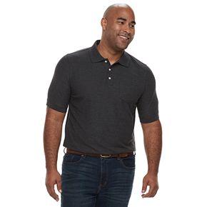 Big & Tall Croft & Barrow® Regular-Fit Pique Pocket Polo