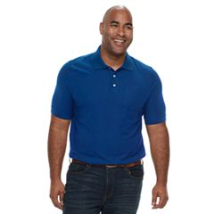 Big & Tall Croft & Barrow® Regular-Fit Pique Pocket Polo