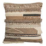 Safavieh Demna Textured Fringe Throw Pillow