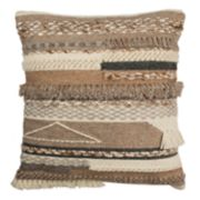 Safavieh Demna Textured Fringe Throw Pillow