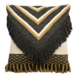 Safavieh Elettra Geometric Fringe Throw Pillow