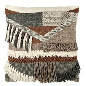 Safavieh Freja Geometric Fringe Throw Pillow