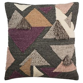 Safavieh Josep Geometric Fringe Throw Pillow