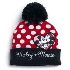 san francisco 82a6a 3976c Disney s Mickey   Minnie Mouse Polka Dot Knit Beanie
