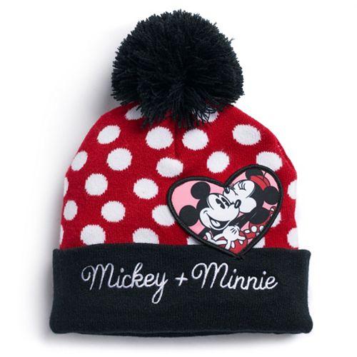 Disney's Mickey & Minnie Mouse Polka Dot Knit Beanie