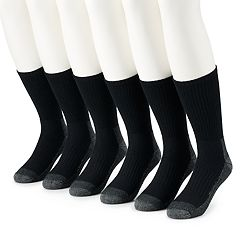 Men's Work IQ 6-pack Cushioned Work Crew Socks