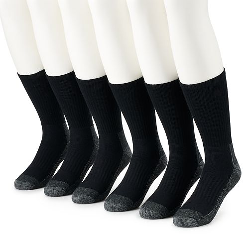 Men's Work IQ 6-pack Cushioned Work Crew Socks