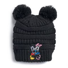 2b522120016 Disney s Mickey   Minnie Mouse Embroidered Pom-Pom Beanie
