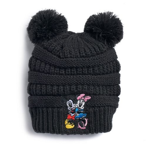 Disney's Mickey & Minnie Mouse Embroidered Pom-Pom Beanie