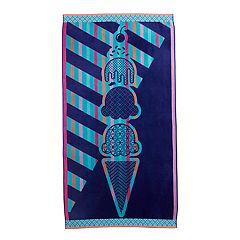 Celebrate Summer Together Ice Cream Turkish Cotton Beach Towel