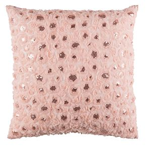 Safavieh Glam Sequin Floral Throw Pillow