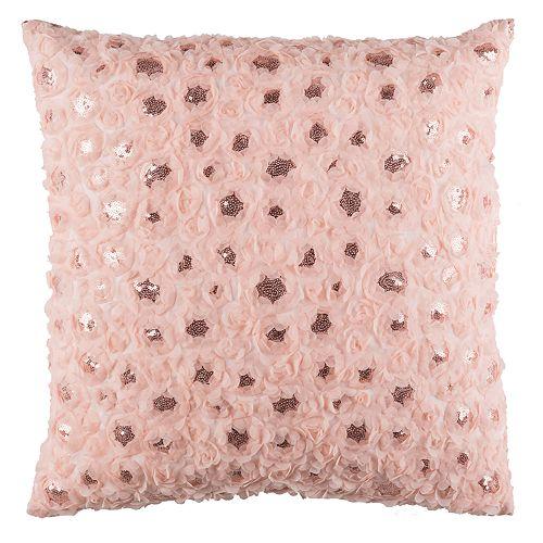 Safavieh Glam Sequin Floral Throw Pillow
