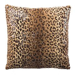 Safavieh Zuma Faux Cheetah Print Throw Pillow