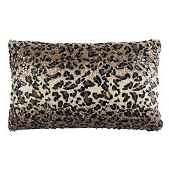 Safavieh Zahara Faux Cheetah Print Oblong Throw Pillow