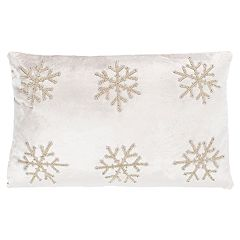 Safavieh Sydnee Snowflake Throw Pillow
