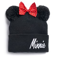 Disney's Minnie Mouse Pom-Pom Ears & Bow Knit Beanie