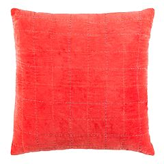 Safavieh Autumn Red Velvet Throw Pillow