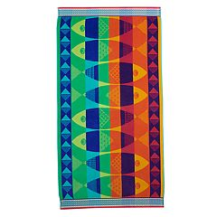 Celebrate Summer Together Fun Fish Turkish Cotton Beach Towel