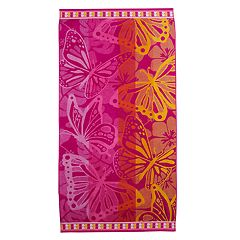 Celebrate Summer Together Butterfly Turkish Cotton Beach Towel