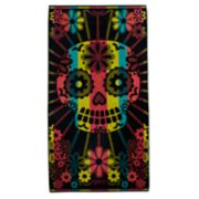 Celebrate Summer Together Sugar Skull Turkish Cotton Beach Towel