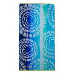 Celebrate Summer Together Tie Dye Turkish Cotton Beach Towel