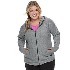 Plus Size Tek Gear® Microfleece Hooded Jacket