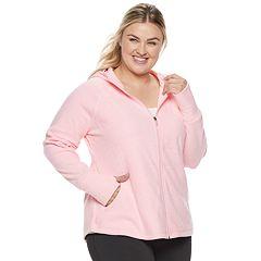 Plus Size Tek Gear® Microfleece Hooded Jacket