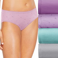 Hanes Ultimate 4-pk Comfort Soft Hipster Panties