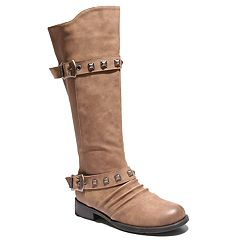 2 Lips Too Jilly Women's Buckle Riding Boots