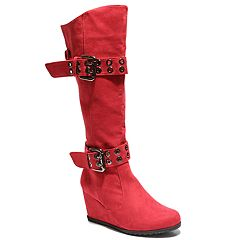2 Lips Too Norma Women's Knee High Wedge Boots