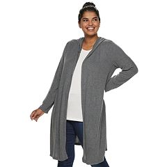 Juniors' Plus Size IZ Byer Hooded Duster Cardigan