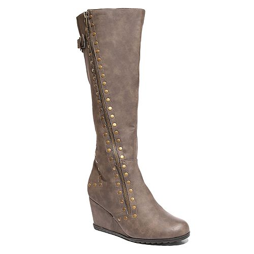 2 Lips Too Niles Women's Knee High Wedge Boots