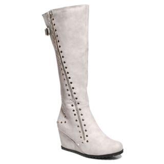 2 Lips Too Niles Women's Knee High Wedge Boots