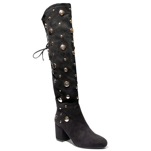 2 Lips Too Loop Women's Embellished Over-The-Knee Boots