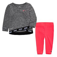 Baby Girl Nike Dri-FIT Space-Dye Crossover Top & Leggings Set