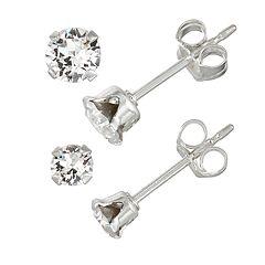 35fe400e4644c Charming Girl Sterling Silver Earrings, Jewelry | Kohl's
