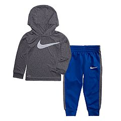 Toddler Boy Nike Dri-FIT Logo Hoodie & Jogger Pants Set