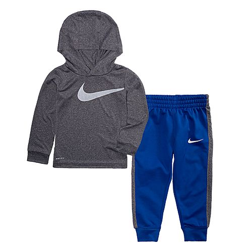 size 40 f7afb 8507e Toddler Boy Nike Dri-FIT Logo Hoodie   Jogger Pants Set