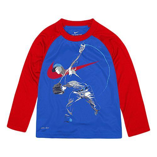 Toddler Boy Nike Dri-FIT Football Player Raglan Top