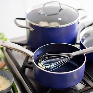 Blue Diamond 10-piece Enhanced Ceramic Nonstick Cookware Set As Seen on TV