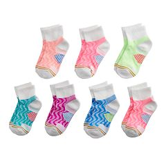 Girls 7-16 GOLDTOE 6-pack + 1 Bonus Ultra Tec Quarter Socks