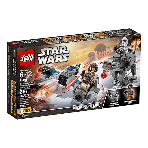 LEGO Star Wars Ski Speeder vs. First Order Walker Microfighters Set 75195