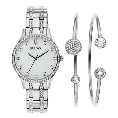 Bulova Women's Crystal Watch & Pendant Set - 96X145