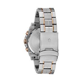 Bulova Men's Precisionist Sport Champlain Two Tone Stainless Steel Chronograph Watch - 98B317