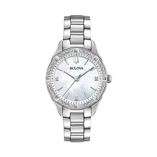 Bulova Women's Sutton Diamond Stainless Steel Watch - 96R228