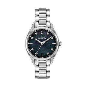 Bulova Women's Sutton Diamond Stainless Steel Watch - 96P198